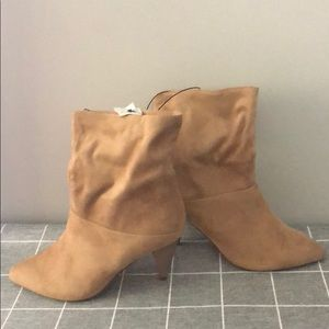 Slouched booties
